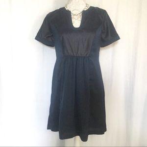 Loft // Outlet Navy Velvet Front Shirt Dress XS